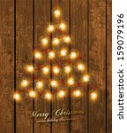 christmas tree made of... | Shutterstock .eps vector #159079196