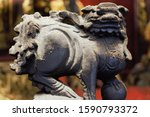 Chinese Lion Statue At Sam Kai...