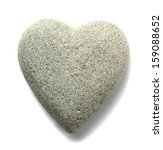 Grey Stone In Shape Of Heart ...