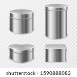 metal tin boxes for tea ... | Shutterstock .eps vector #1590888082