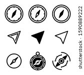 navigation icon isolated sign...
