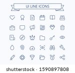 ui thin line simple outline...
