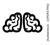 brain icon isolated sign symbol ...   Shutterstock .eps vector #1590937942