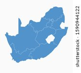south africa blue map on white... | Shutterstock .eps vector #1590944122