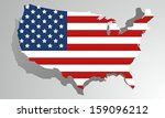 creative abstract usa map... | Shutterstock .eps vector #159096212