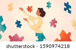self healing  recovery flat... | Shutterstock .eps vector #1590974218