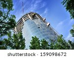 building crane and building... | Shutterstock . vector #159098672