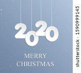 "the inscription ""merry... | Shutterstock .eps vector #1590999145"