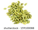 seeds of pumpkin on white... | Shutterstock . vector #159100088