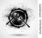 grunge drums | Shutterstock .eps vector #159100292