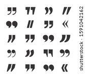 quotation marks black and white ...   Shutterstock .eps vector #1591042162