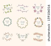 collection with vector labels... | Shutterstock .eps vector #159106016