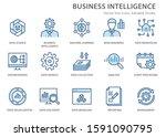 set of business intelligence... | Shutterstock .eps vector #1591090795