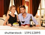 beautiful young couple with... | Shutterstock . vector #159112895