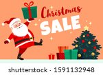 cute smiling santa claus... | Shutterstock .eps vector #1591132948