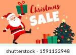 cute smiling santa claus... | Shutterstock .eps vector #1591132948