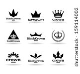 crowns  4  | Shutterstock .eps vector #159114002