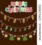 christmas garland | Shutterstock .eps vector #159115052