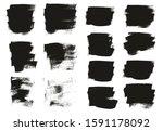 calligraphy paint wide brush... | Shutterstock .eps vector #1591178092