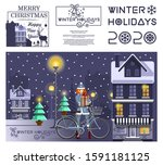 new years design set. winter... | Shutterstock .eps vector #1591181125