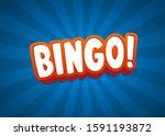 bingo text banner. vector... | Shutterstock .eps vector #1591193872