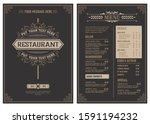 retro template for  restaurant... | Shutterstock .eps vector #1591194232