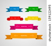colorful vector labels  ribbons ... | Shutterstock .eps vector #159122495