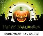 vector illustration on a happy... | Shutterstock .eps vector #159128612