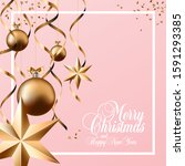 merry christmas and happy new... | Shutterstock .eps vector #1591293385