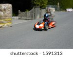 a competitor in a soap box... | Shutterstock . vector #1591313