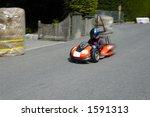 a competitor in a soap box...   Shutterstock . vector #1591313