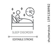 sleep deprivation linear icon.... | Shutterstock .eps vector #1591338982