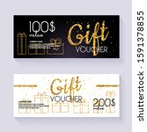 voucher template with color... | Shutterstock .eps vector #1591378855