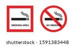 no smoking sign  smoking... | Shutterstock .eps vector #1591383448