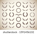 collection of different vintage ...   Shutterstock .eps vector #1591456132