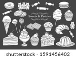 confectionery and sweets... | Shutterstock .eps vector #1591456402