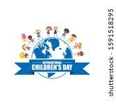 happy international children's... | Shutterstock .eps vector #1591518295
