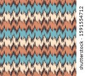 Seamless Abstract Ikat Pattern...