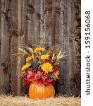 Pumpkin Flower Arrangement On...