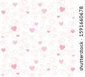 cute heart shape isolated on... | Shutterstock .eps vector #1591660678