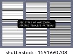 six various styles of... | Shutterstock .eps vector #1591660708