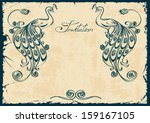 Vintage Invitation Or Card With ...