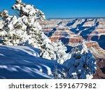Snow Capped Grand Canyon At...