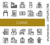 coins icon set. collection of... | Shutterstock .eps vector #1591691788