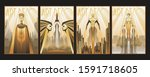 art deco style posters ... | Shutterstock .eps vector #1591718605