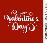 happy valentines day typography ... | Shutterstock .eps vector #1591770118
