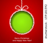 abstract xmas greeting card... | Shutterstock .eps vector #159181592