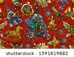 abstract christmas and new year ... | Shutterstock . vector #1591819882