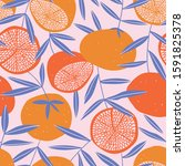 tropical seamless pattern with... | Shutterstock .eps vector #1591825378