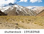 cajon del maipo canyon and... | Shutterstock . vector #159183968